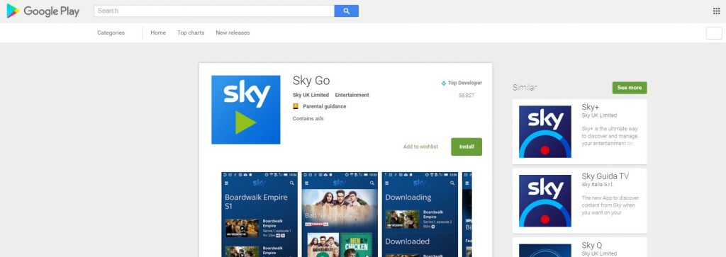 sky go at play store